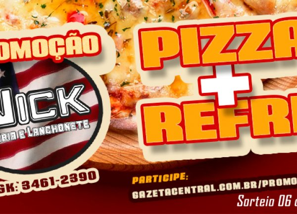 Pizza + Refri da Nick Pizzaria
