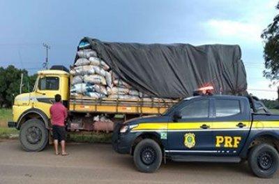 Rondônia: Polícia Rodoviária Federal apreende 368 sacas de carvão ilegal