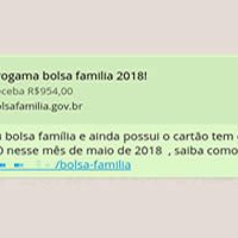 Golpe do Bolsa Família no WhatsApp atinge 600 mil pessoas em 24 horas