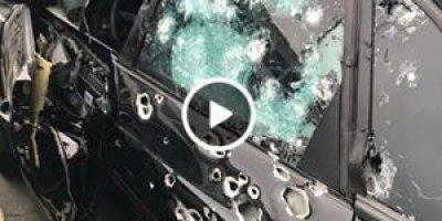 Câmera registra execução de homem em carro blindado com mais de 70 tiros de fuzil