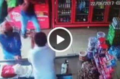 Bandidos tentam assaltar comércio e proprietário reage