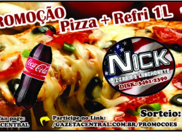 Pizza + Refrigerante 1L Nick Pizzaria