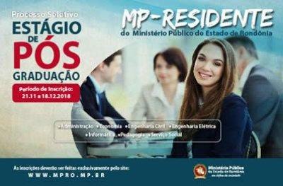 MP abre inscrições para seleção de estagiário de nível pós-graduação