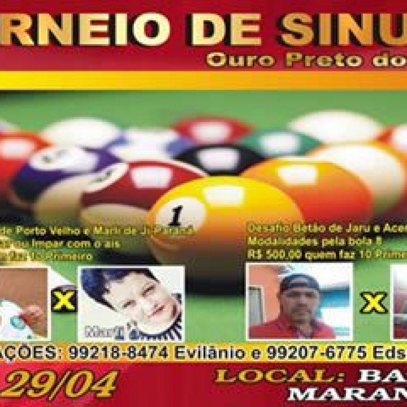 Ouro Preto: torneio de sinuca vai reunir as feras do taco neste sábado (29)