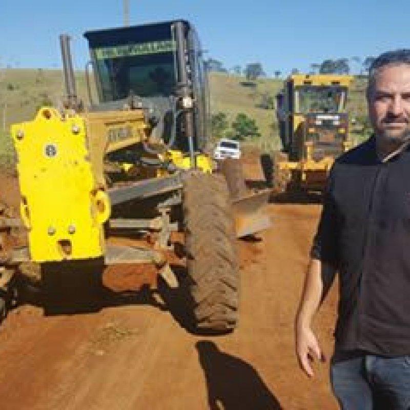Ouro Preto: Prefeito acompanha recuperação de estradas rurais