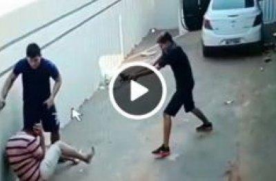 Câmara flagra momento em que comerciante é baleado durante assalto