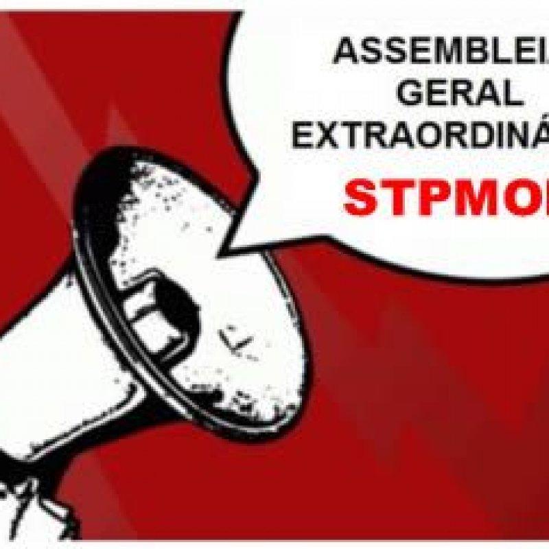 Edital de Convocação para Assembleia Geral Extraordinária do STPMOP