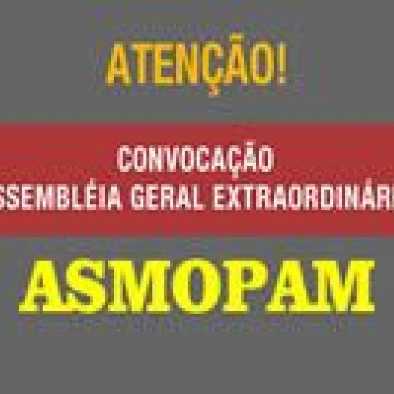 ASMOPAM: edital de convocação da assembléia geral extraordinária