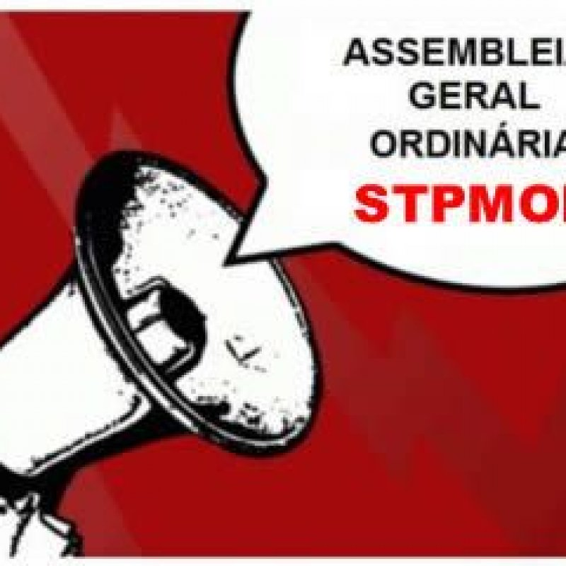 STPMOP: edital de convocação para Assembléia Geral Extraordinária