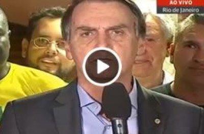 Veja o primeiro pronunciamento de Jair Bolsonaro como presidente
