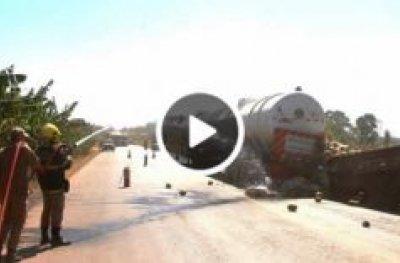 Grave acidente na BR-364 entre Jaru e OPO com carreta tanque deixa um morto