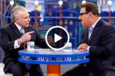 Ratinho entrevista o presidente Michel Temer