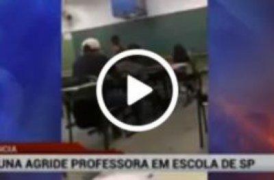Professora apanha de aluna após debochar do cabelo da menina